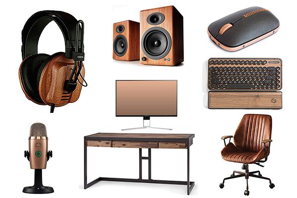 brown youtuber setup