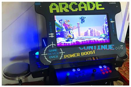 arcade machine with tilt screen front
