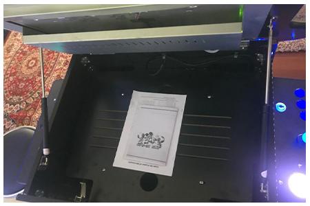 arcade machine with tilt