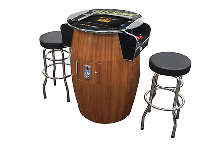 barrel style arcade machines