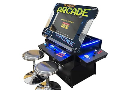 cocktail arcade machines with tilt