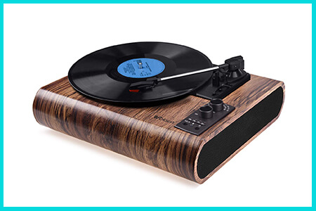 voksun retro record players and turntable