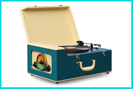 vintage retro record players