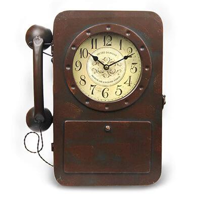 vintage phone clock