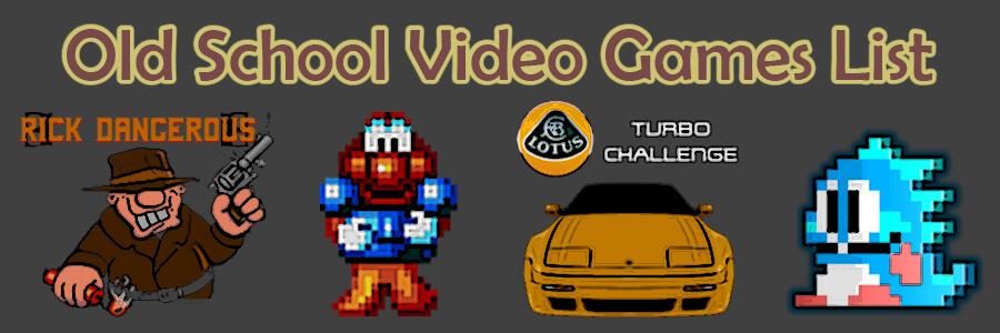 old school video games list