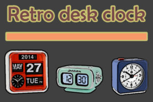 Retro desk clock