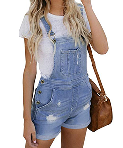 Retro clothing for women the 1990's denim overalls
