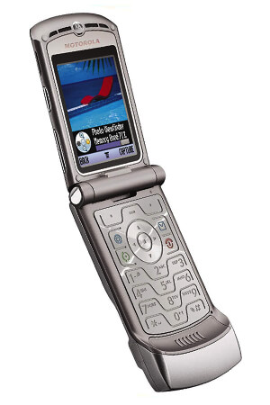 old school cell phone motorola RAZR