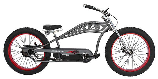 retro style electric bikes Micargi Cyclone