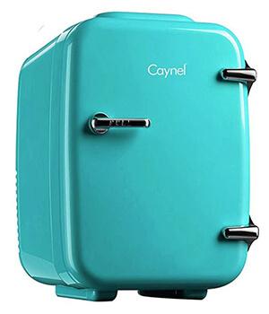 Retro mini fridge green blue