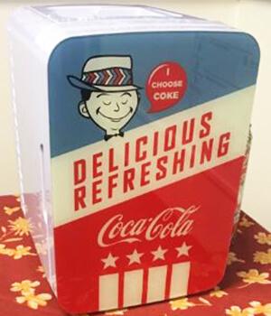 vintage mini fridge