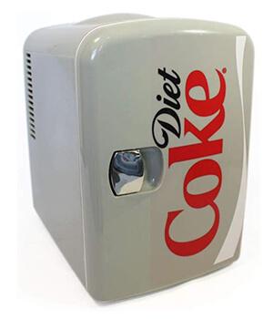 Retro mini fridge diet coke