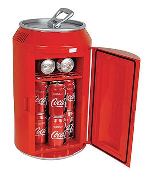 Retro mini soda can fridge cola
