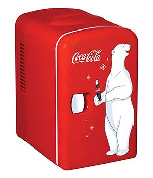 Retro mini fridge cola bear