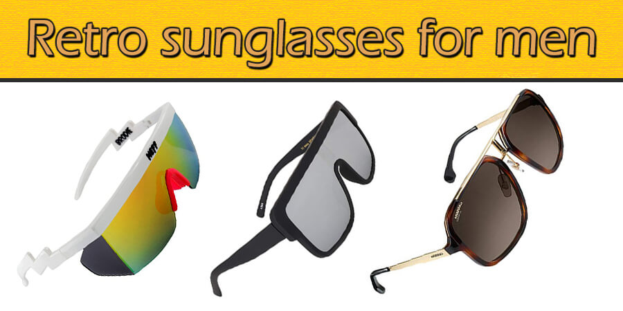 Retro sunglasses for men crazy cool shades