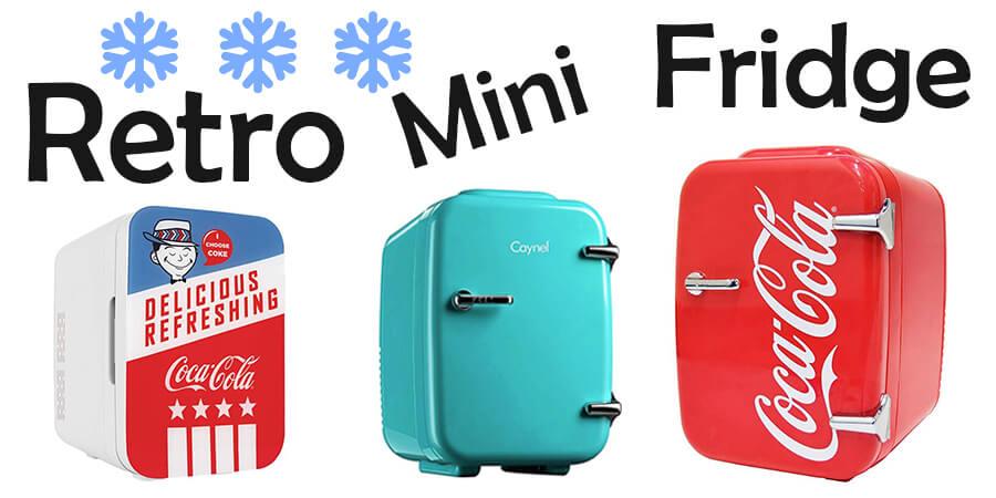 Retro mini fridge