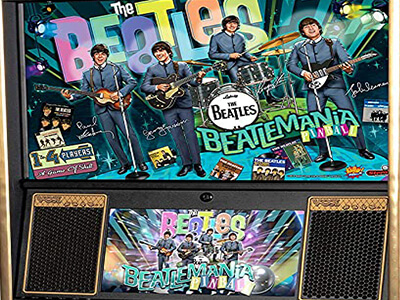 The Beatles old school retro pinball machines