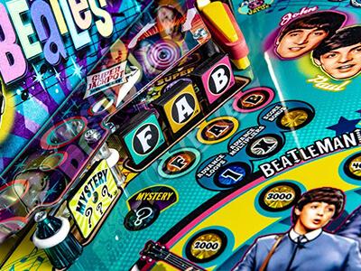 The Beatles old school pinball machine