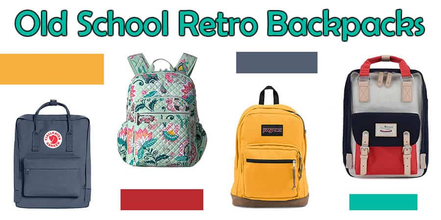 old school retro backpacks