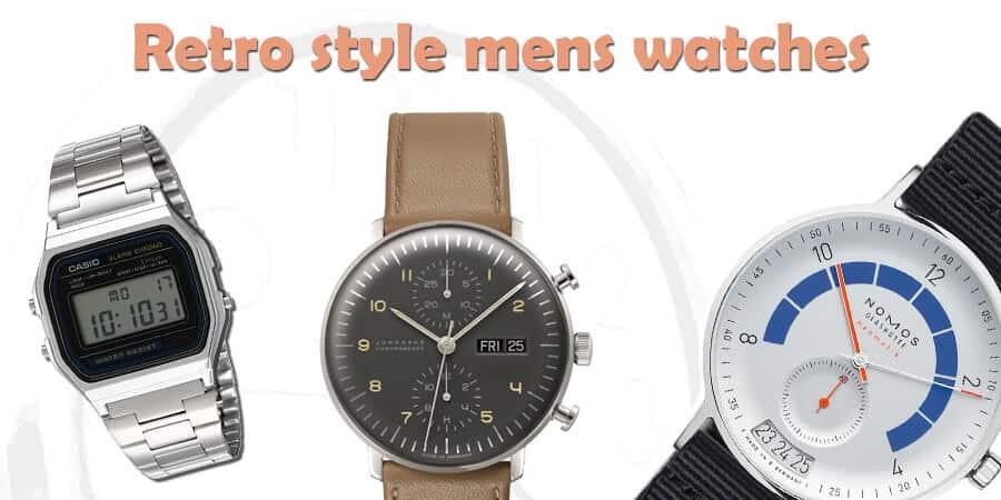 retro style mans watches